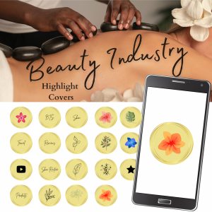 19 Beauty Industry Theme Highlight Covers